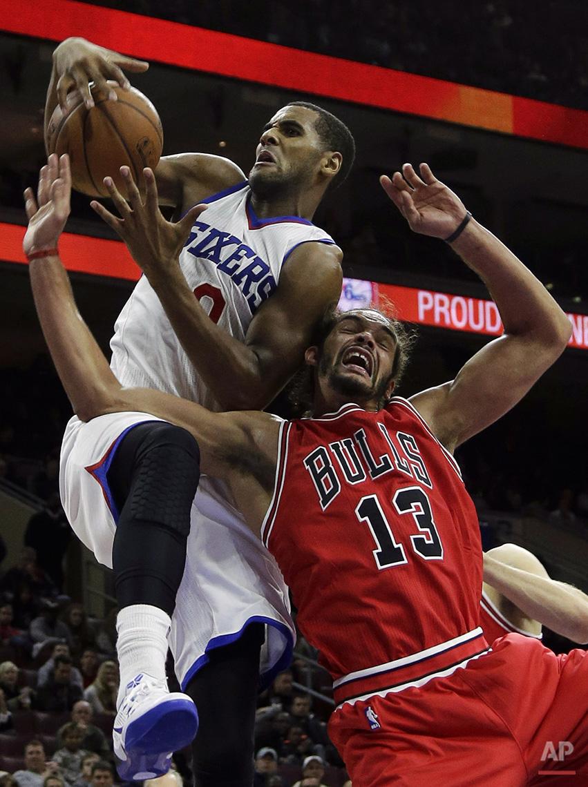 APTOPIX Bulls 76ers Basketball