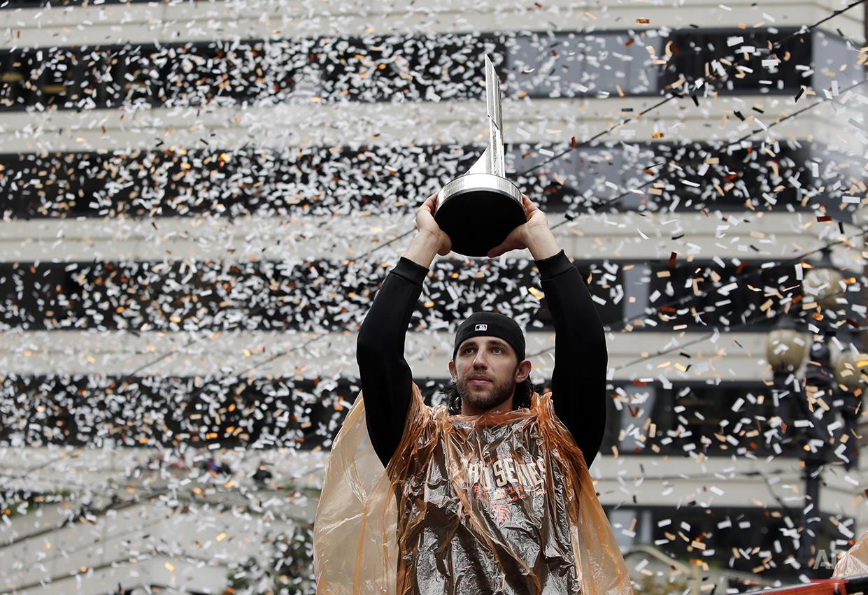 APTOPIX World Series Giants Celebration Baseball