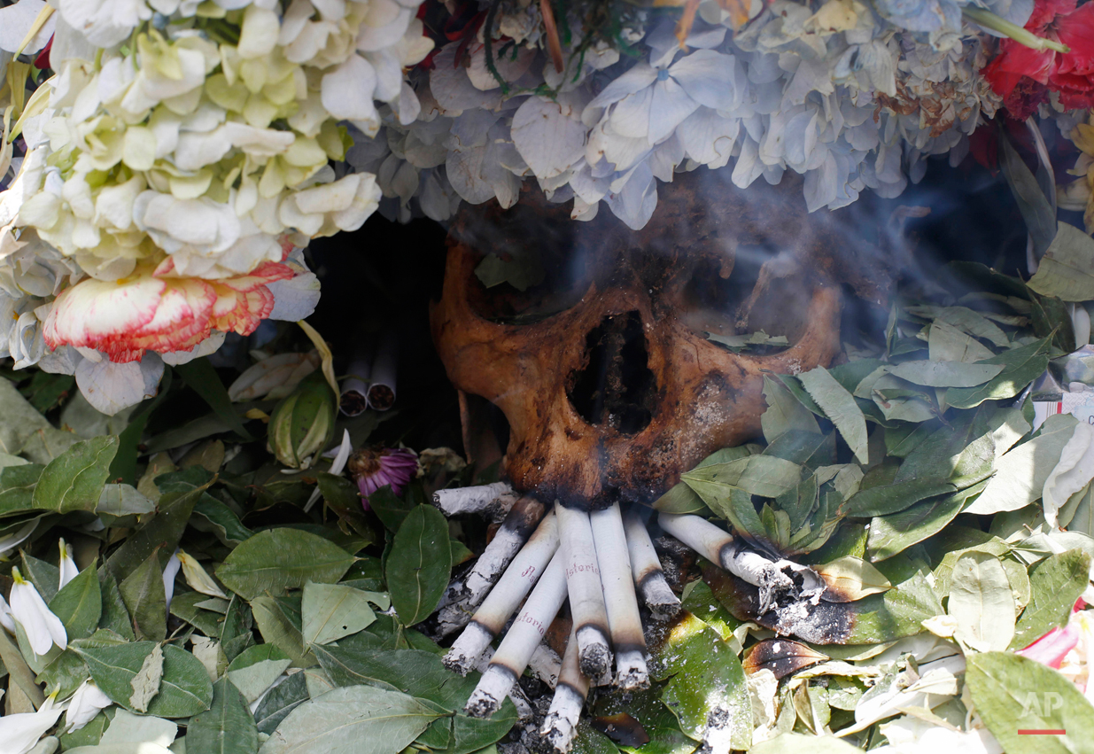 APTOPIX Bolivia Skull Festival