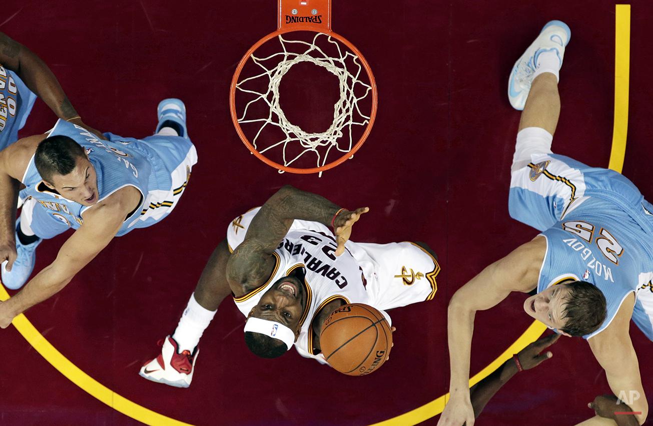APTOPIX Nuggets Cavaliers Basketball