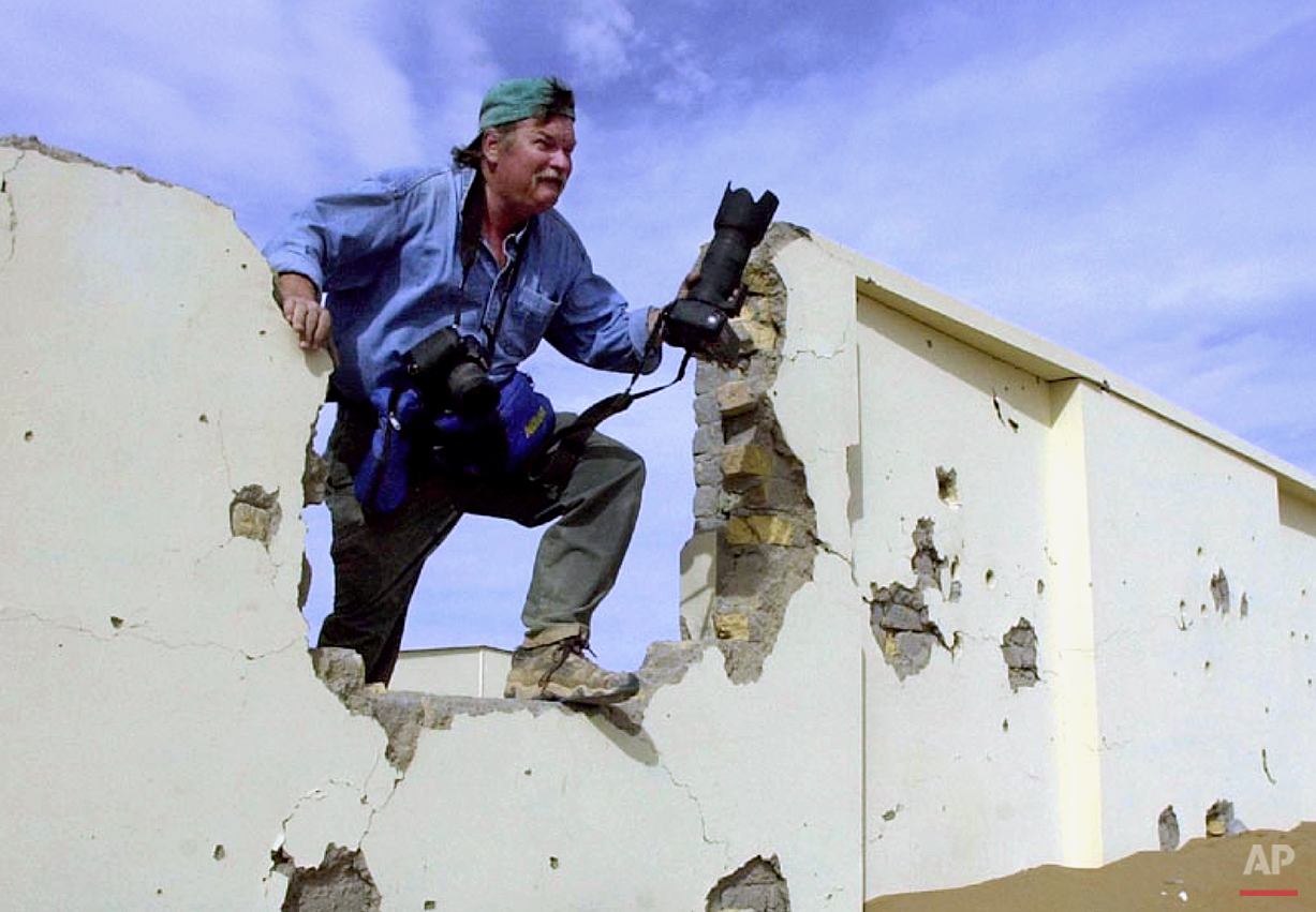 Montgomery-based AP staff photographer Dave Martin on assignment in Afghanistan, ca. 2001.