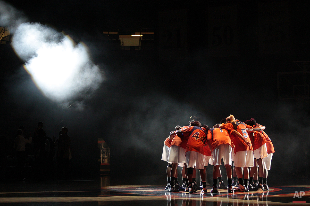 Members of the 15th ranked Auburn women's basketball team are introduced prior to their NCAA basketball game against North Carolina A&T at Beard-Eaves Memorial Coliseum in Auburn, Ala., Wednesday, Dec. 3, 2008. Auburn won 95-74. (AP Photo/Dave Martin)