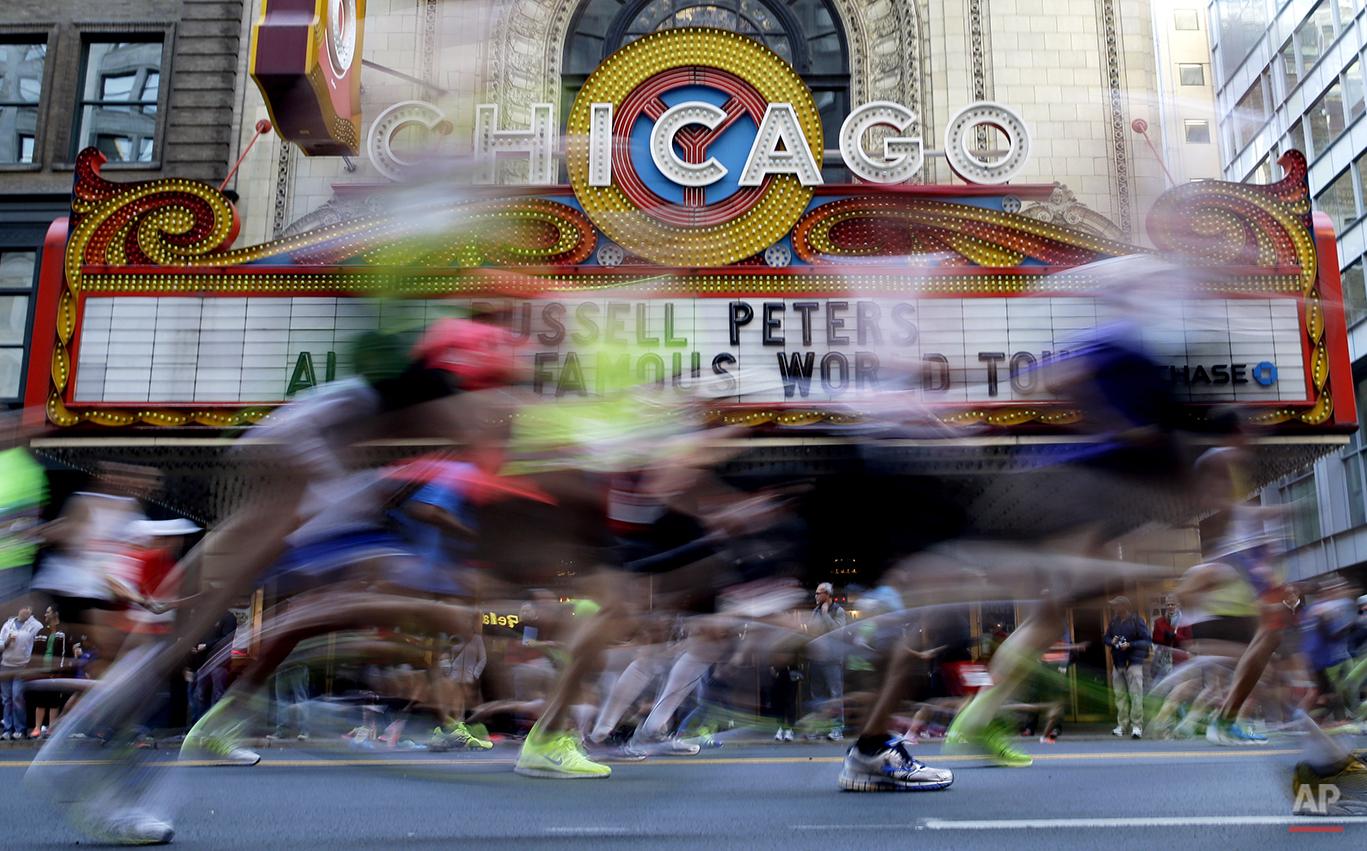 APTOPIX Chicago Marathon