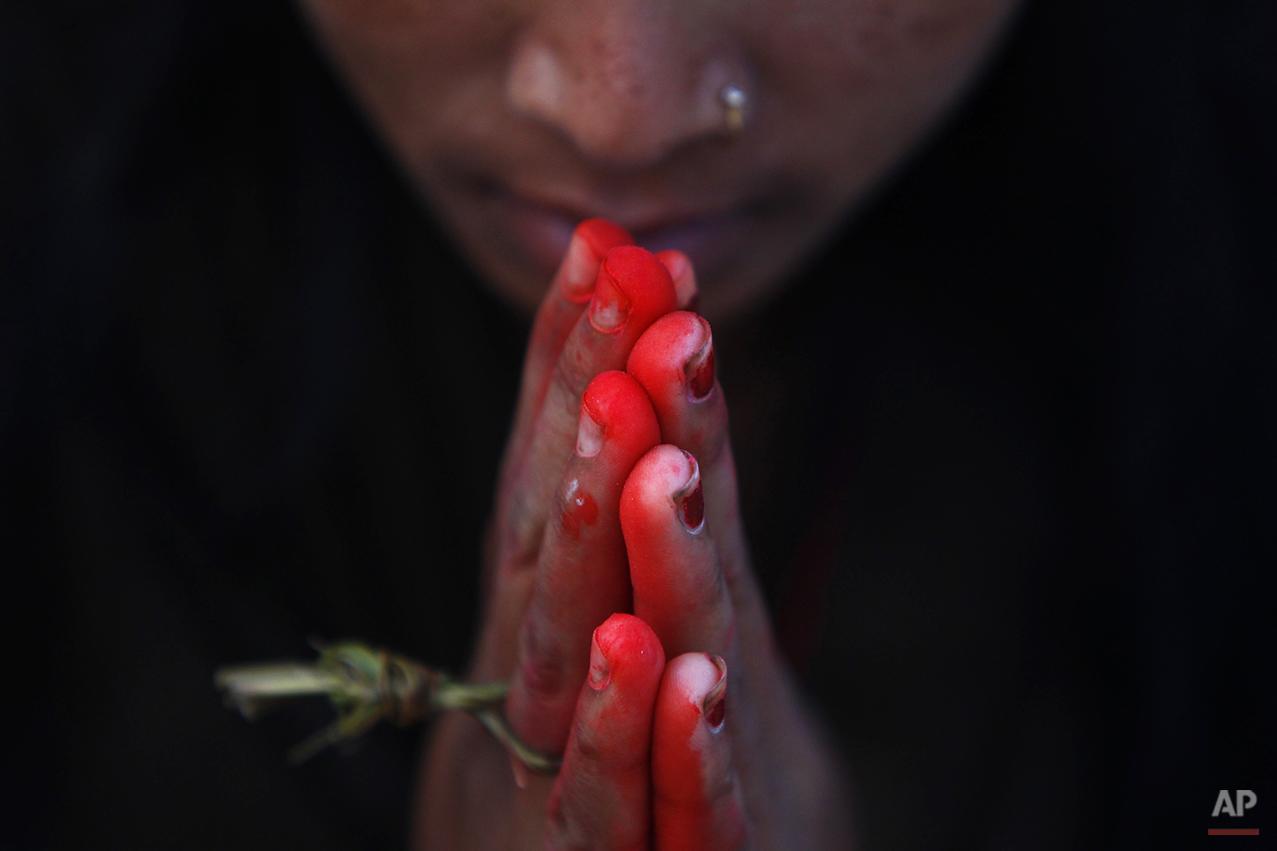 APTOPIX Nepal Hindu Festival