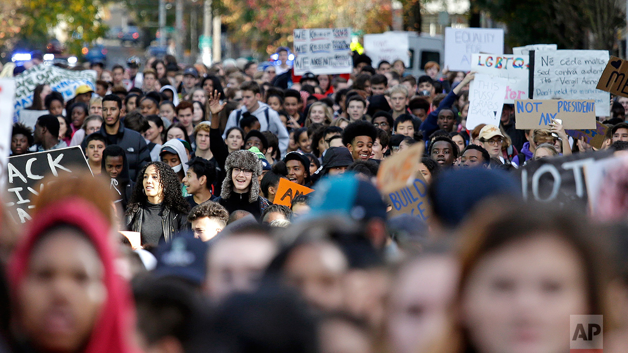 Trump High School Student Protests Seattle