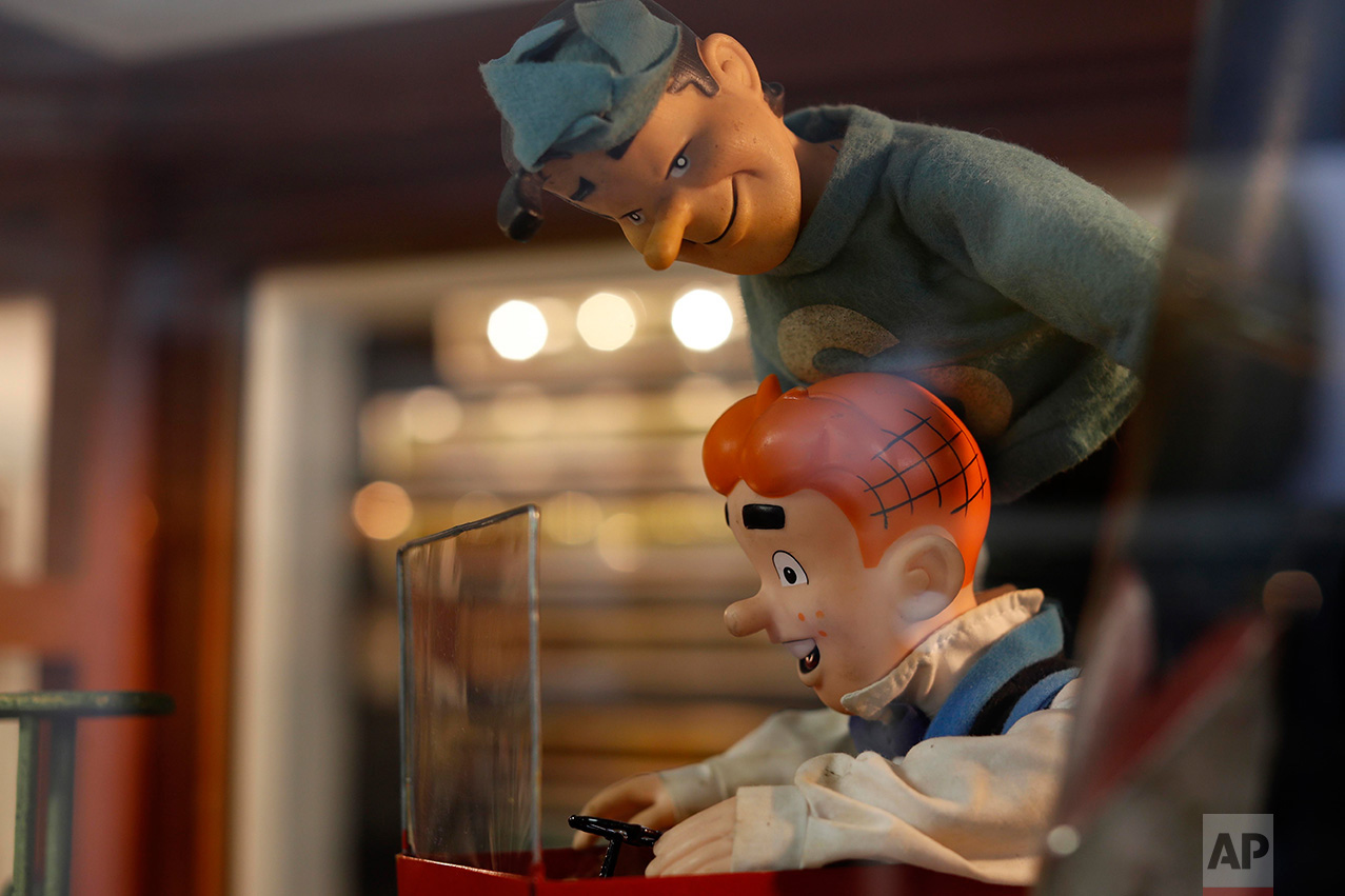 """In this Jan. 6, 2017 photo, Archie and Jughead dolls are displayed at the Mexico Antique Toy Museum in Mexico City. According to Roberto Yuichi Shimizu, son of the founder and now creative director: """"Through our toy museum, our intention has always been to share our collection so that people enjoy and relive their childhood memories, to enter that tunnel of time to relive all those past Christmases and Three Kings' Days when you got your new toys and even the toys you never got."""" (AP Photo/Dario Lopez-Mills)"""