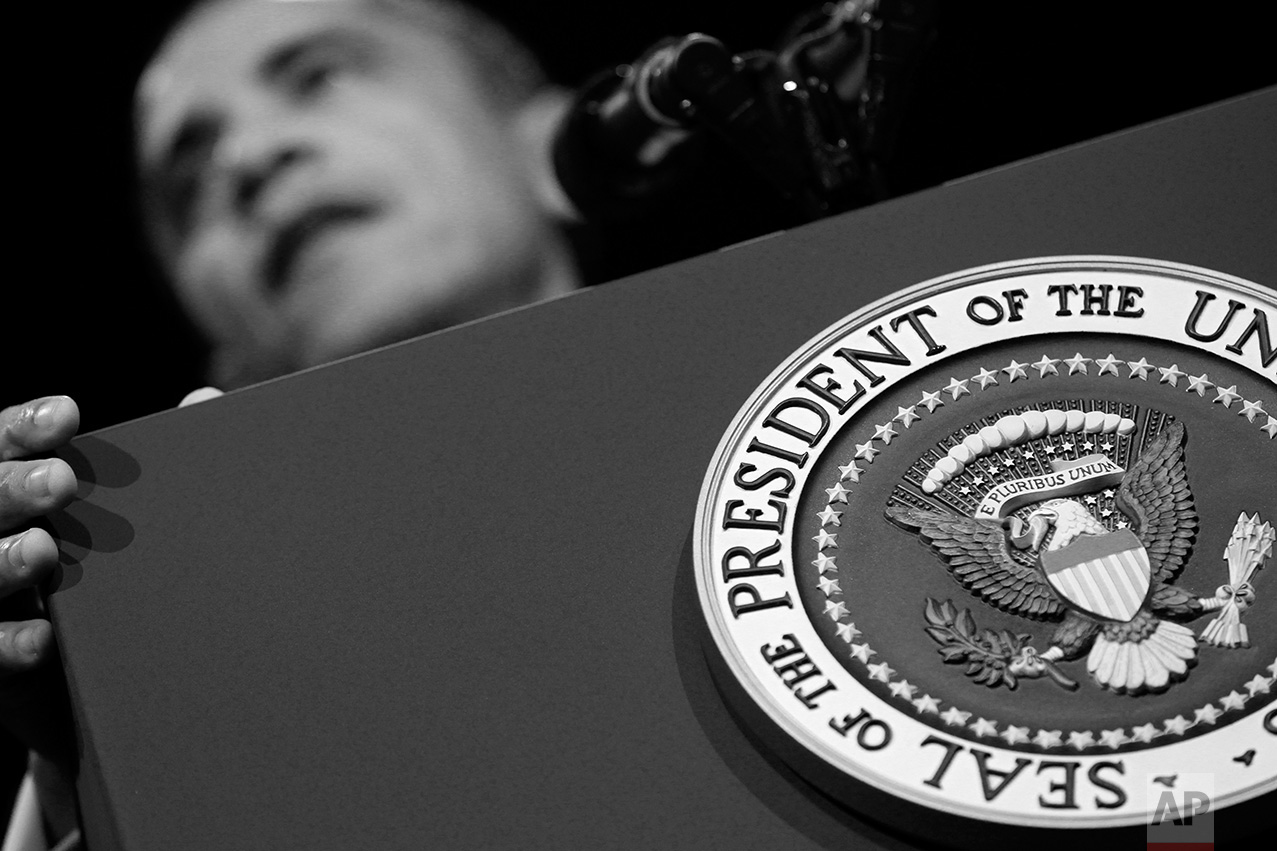 President Barack Obama speaks at the Washington Convention Center, Wednesday, Sept. 14, 2011 in Washington. (AP Photo/Charles Dharapak)