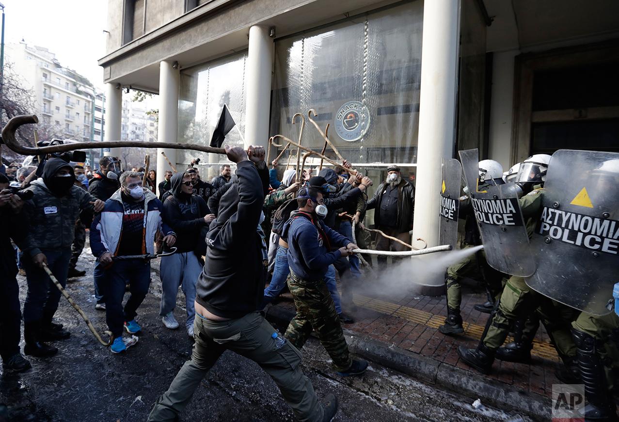 Greece Farmers Protest