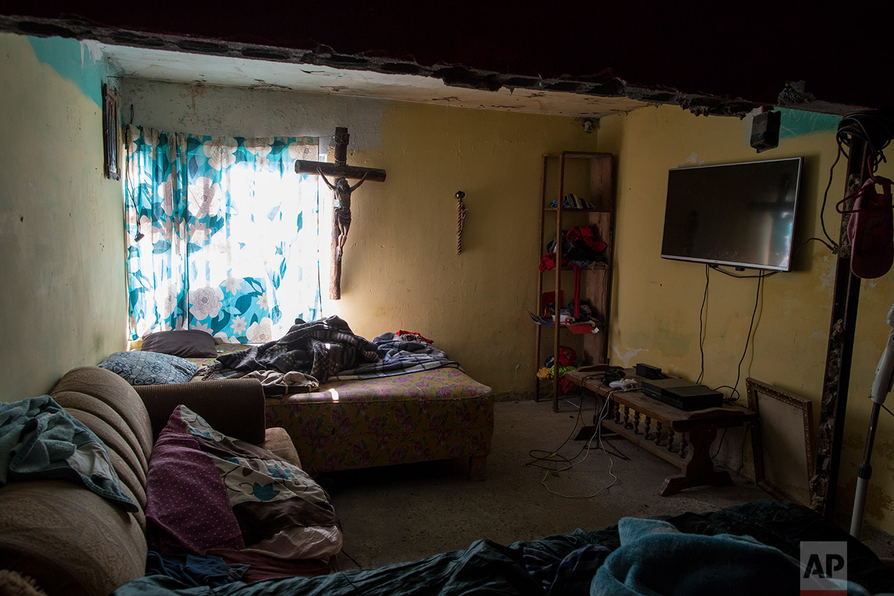 Jesus Esteban Cruz's bedroom in Reynosa, Mexico, Wednesday, March, 22, 2017. (AP Photo/Rodrigo Abd)