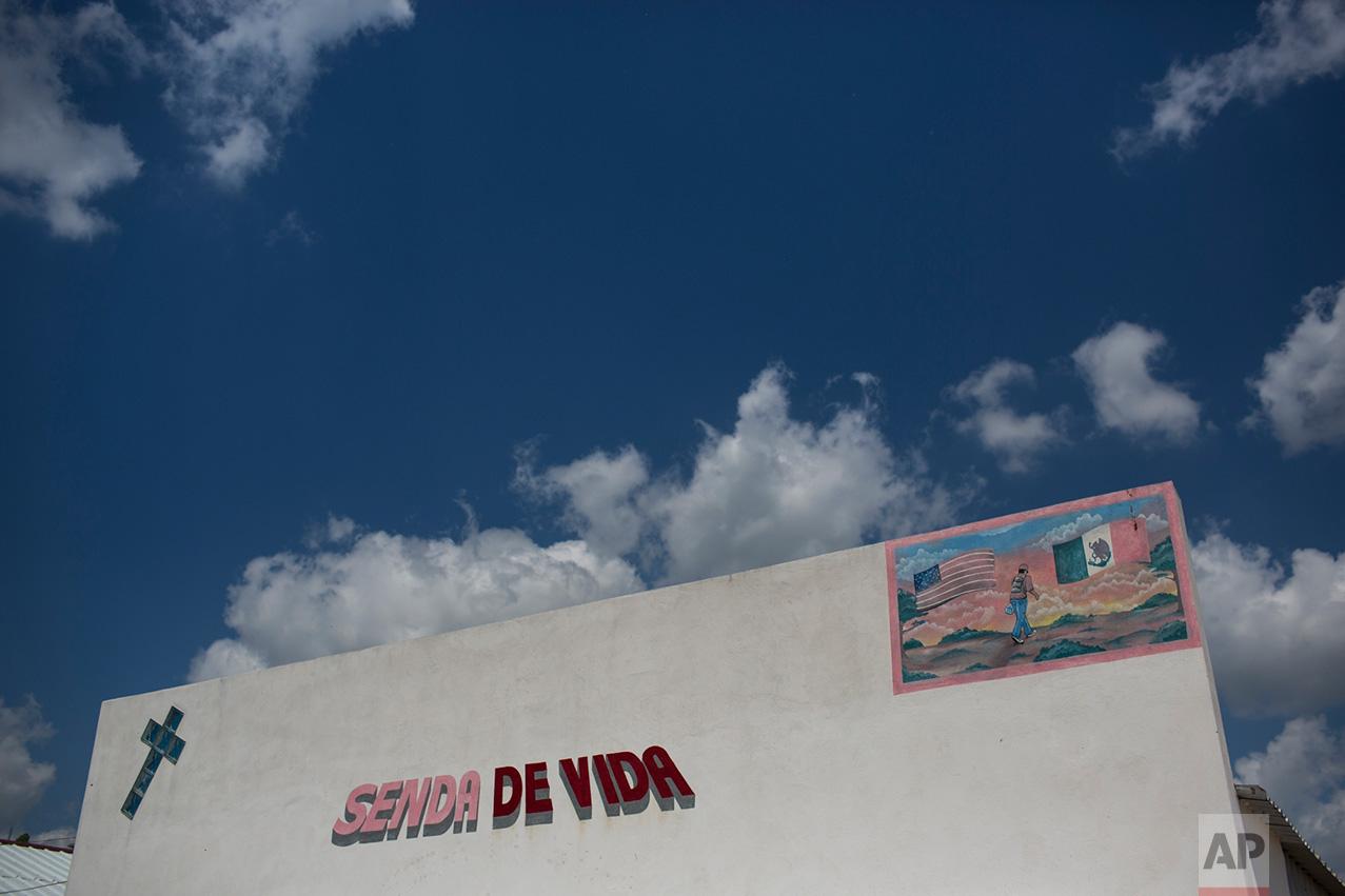 "Migrant shelter ""Senda de Vida"" in Reynosa, Mexico, Wednesday, March 22, 2017. (AP Photo/Rodrigo Abd)"