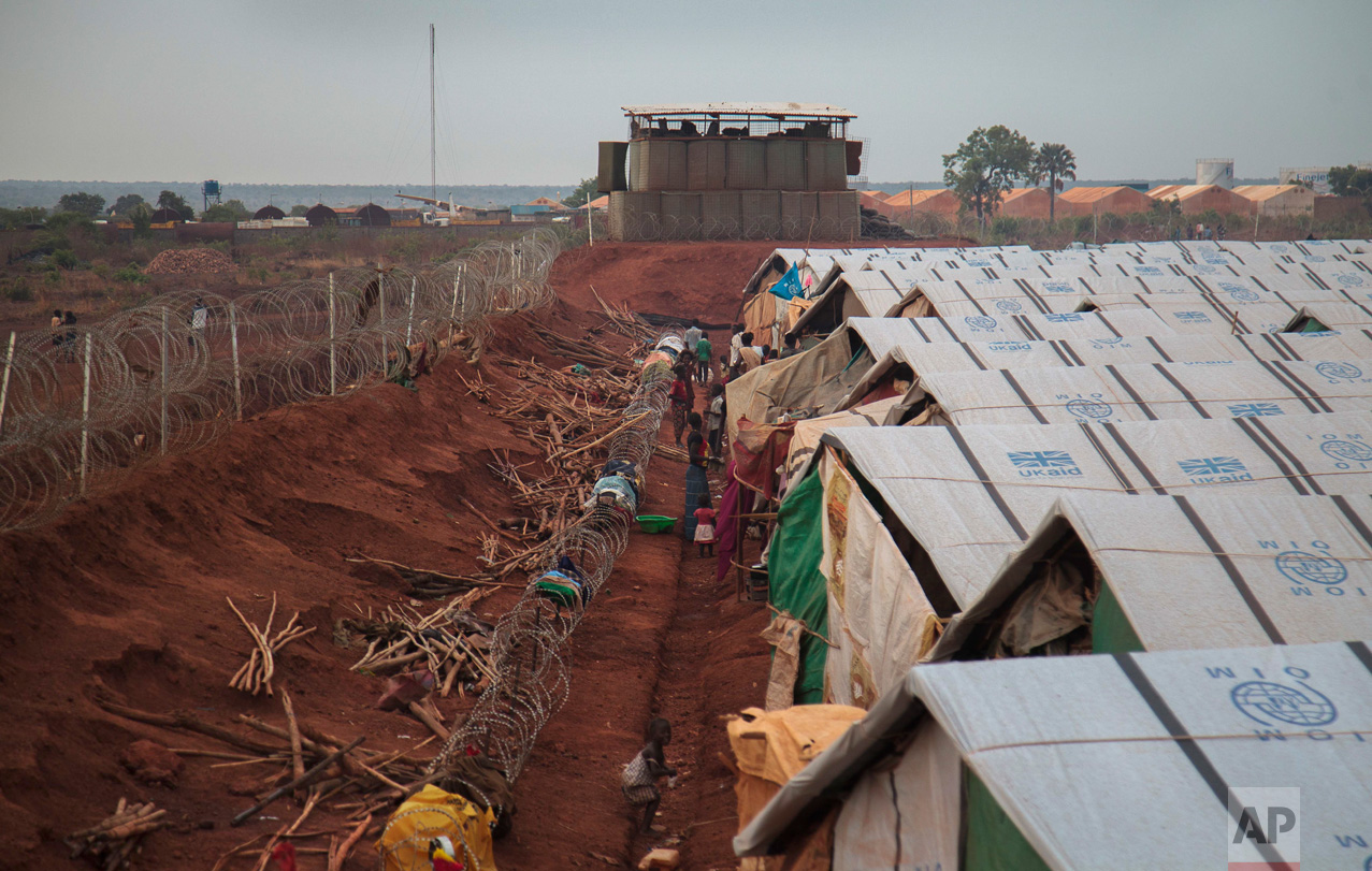 This photo taken Sunday, May 14, 2017, shows the United Nations' protected camp in Wau, South Sudan, which since clashes in April is now the most congested internally displaced camp in the country, with almost 40,000 inhabitants.(AP Photo)