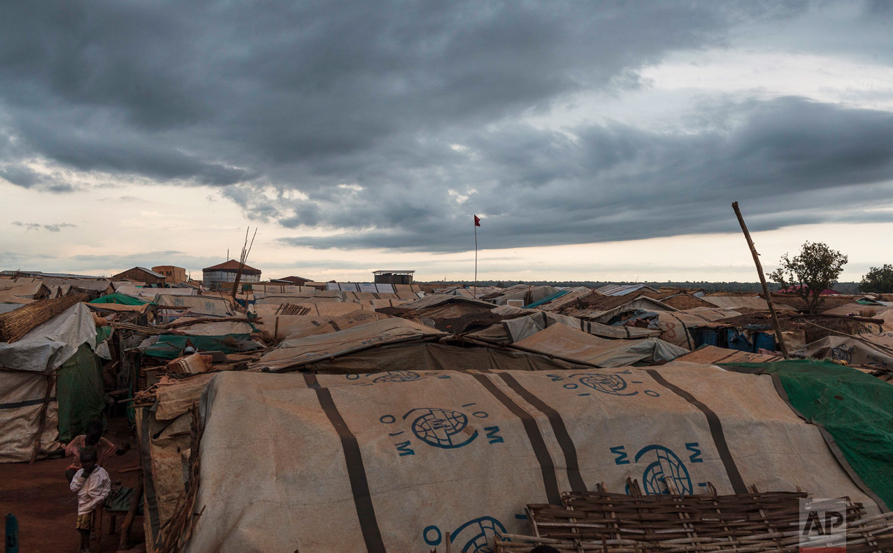 This photo taken Sunday, May 14, 2017, shows the United Nations' protected camp in Wau, South Sudan, which since clashes in April is now the most congested internally displaced camp in the country, with almost 40,000 inhabitants. (AP Photo)