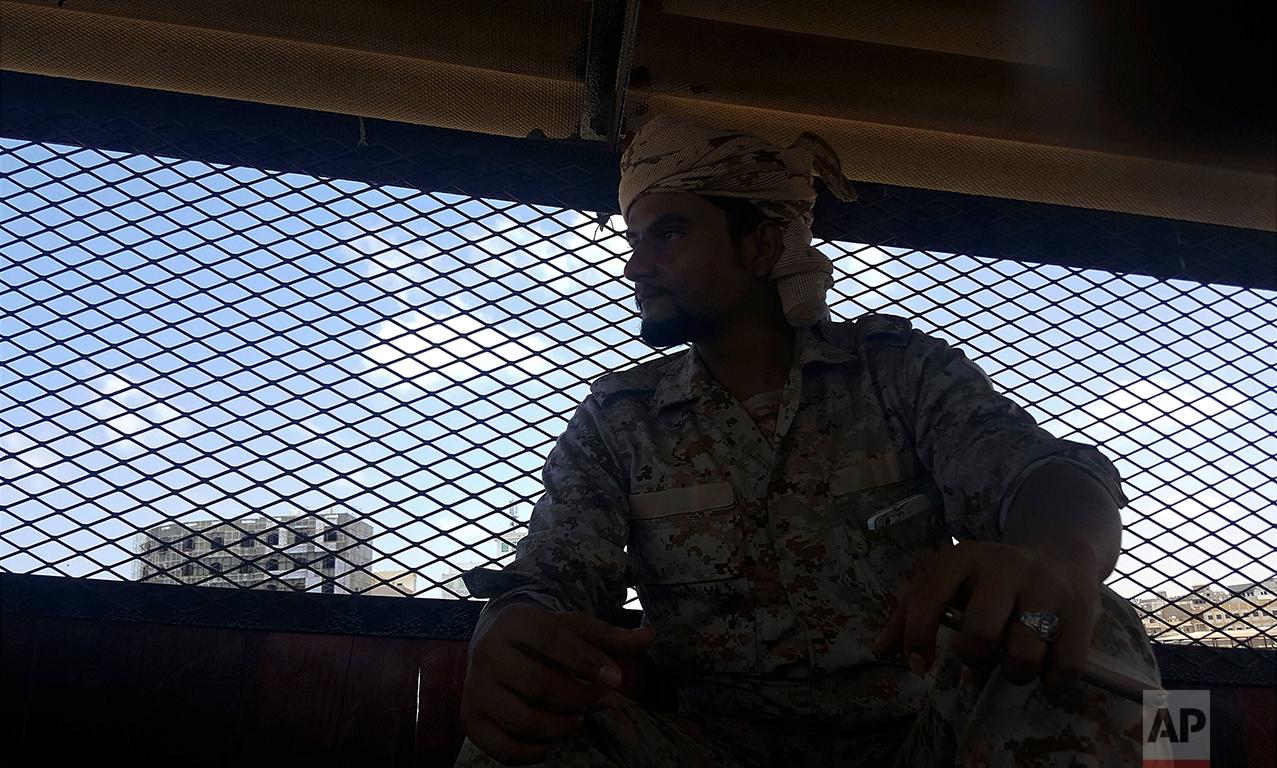 Naquib al-Yahri, the chief of Aden Central Prison, sits in the facility.