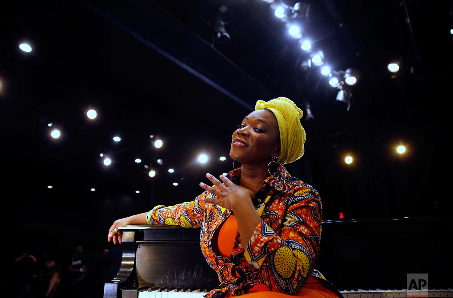 India.Arie speaks during an interview with the Associated Press, after performing at an Essence Festival gala in New Orleans, Thursday, June 29, 2017. (AP Photo/Gerald Herbert)