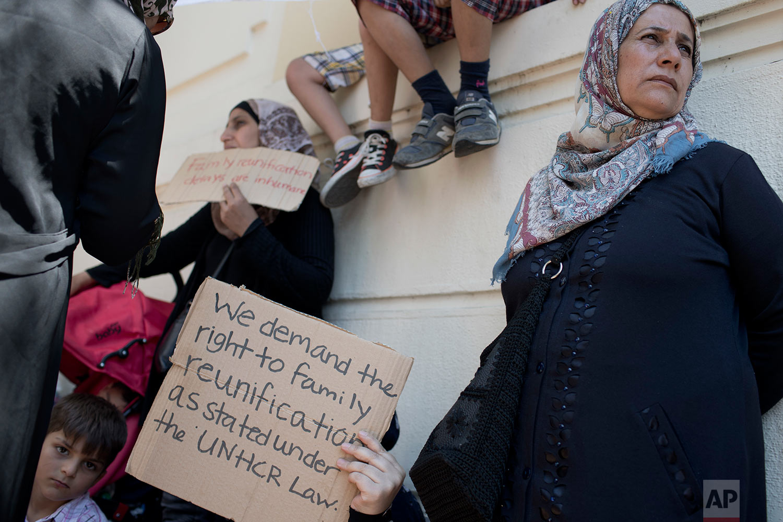 Greece Migrants Protest