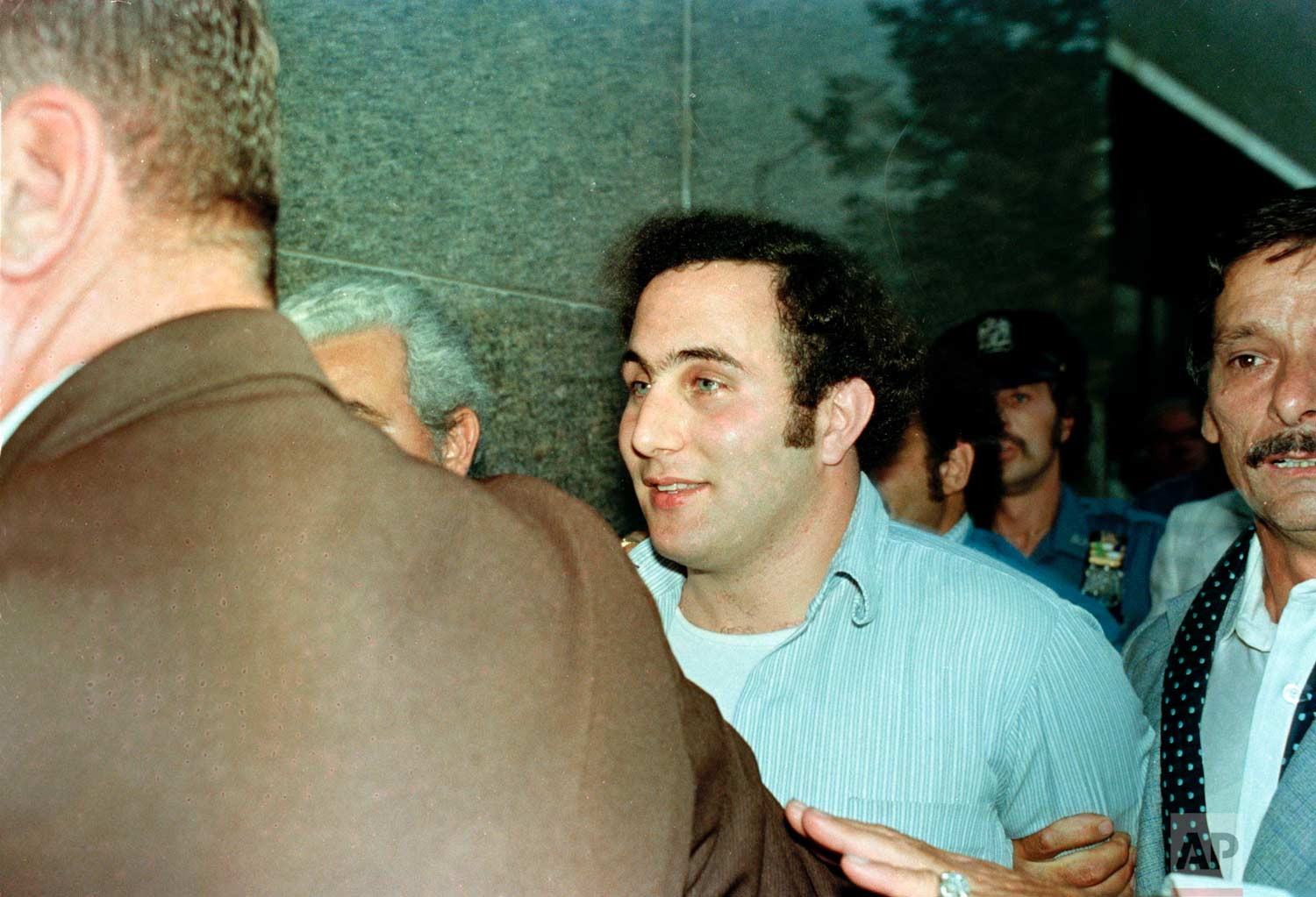 "Alleged "".44 Caliber Killer"" David Berkowitz, who also called himself ""Son of Sam"", is seen in police custody in 1977. (AP Photo)"