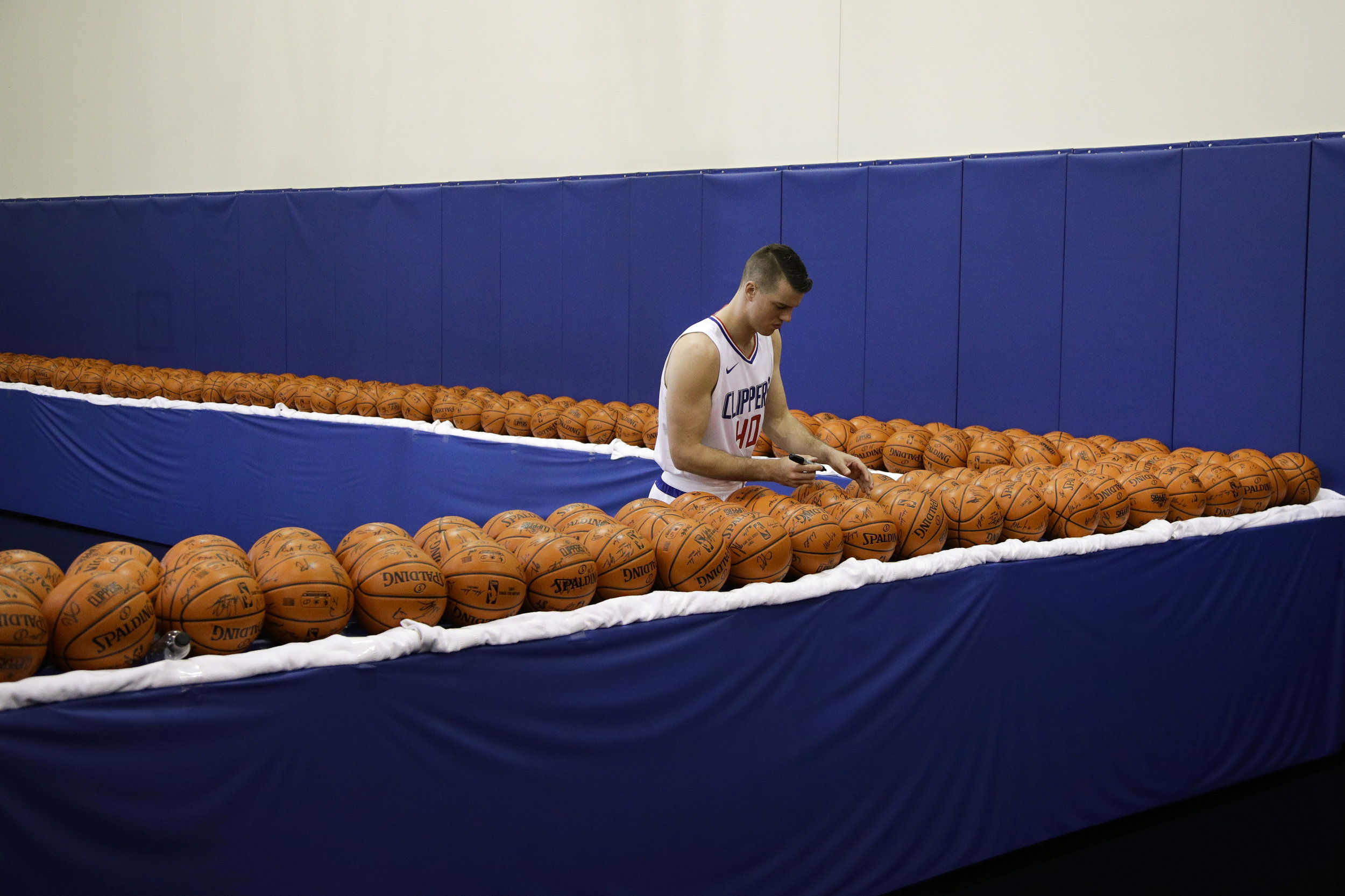 Clippers Media Day Basketball