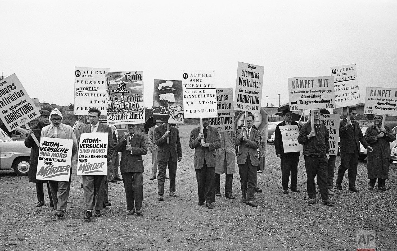 Protests in Bonn   October 7, 1961