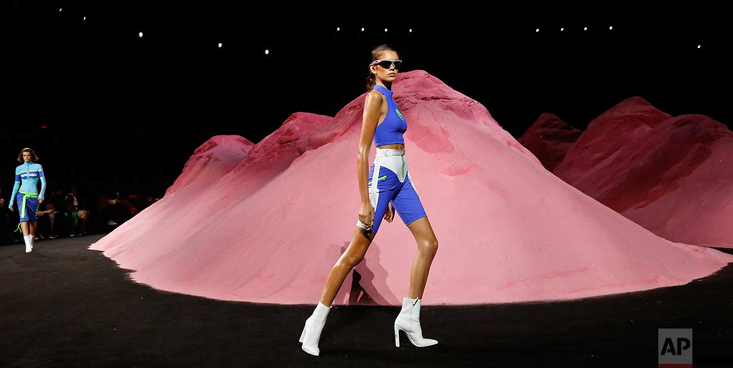 Fashion from Fenty Puma by Rihanna collection is modeled during Fashion Week, Sunday, Sept. 10, 2017, in New York. (AP Photo/Bebeto Matthews)