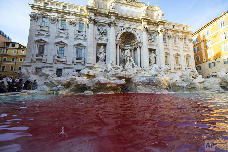 Italy Red Trevi Fountain