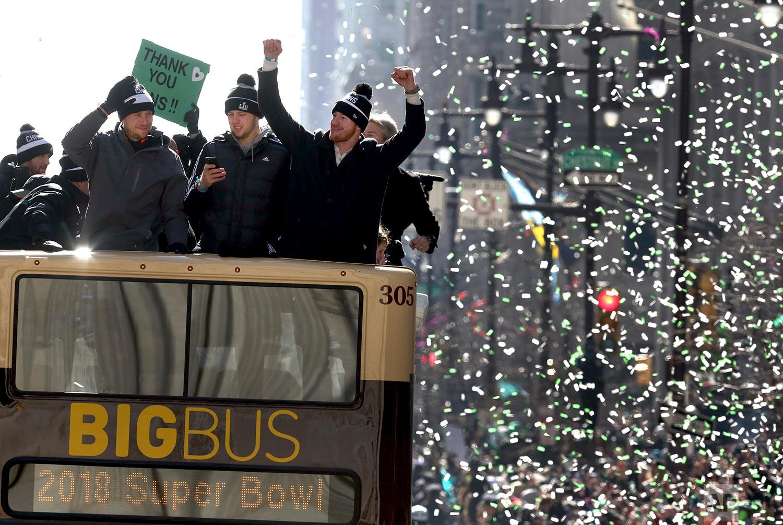 Super Bowl Eagles Parade Football