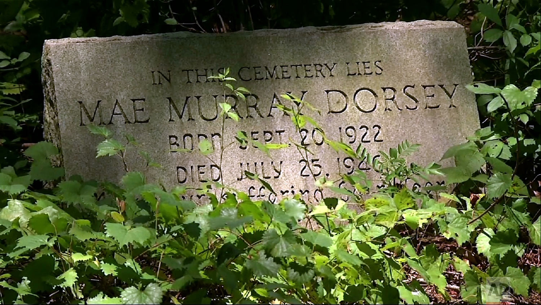 This July 26, 2014, photo shows the gravesite of Mae Murray Dorsey in Bishop, Ga. (AP Photo/Alex Sanz)
