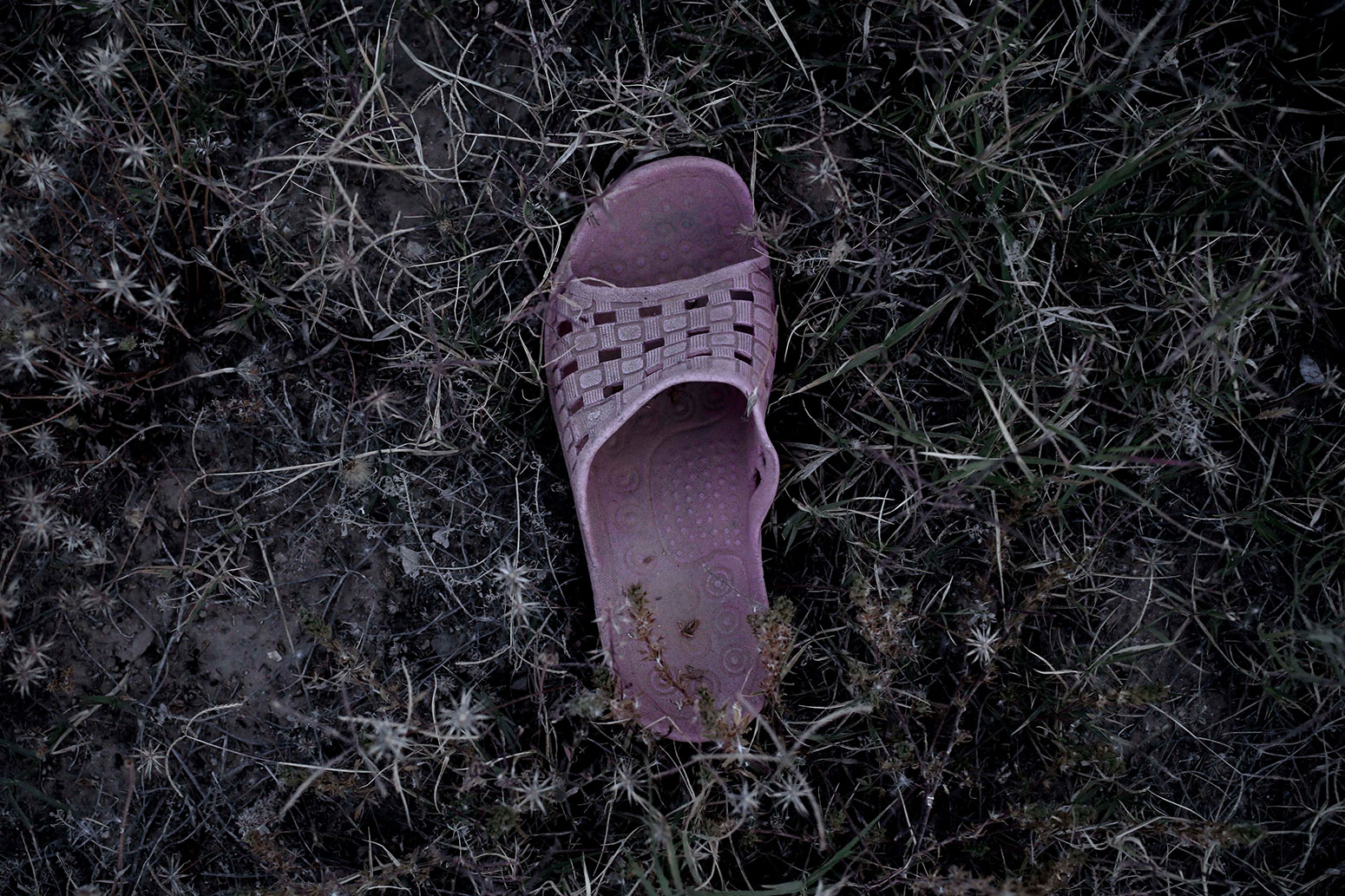 In this April 15, 2018 photo, a migrants slipper, at the southern port town of Zarzis, Tunisia. (AP Photo/Nariman El-Mofty)