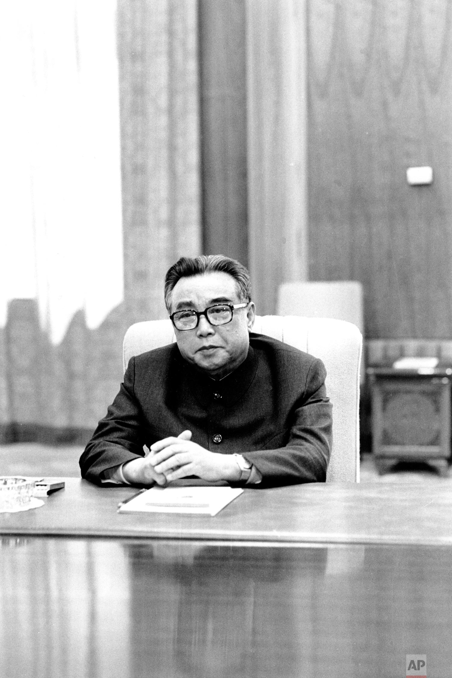 North Korean leader Kim Il Sung sits for a portrait in Pyongyang, North Korea, in May 1979. (AP Photo/Peter Arnett)