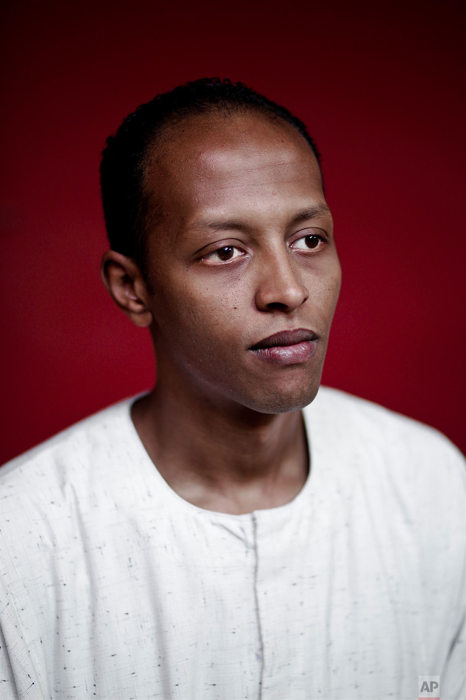 Nubian activist Waleed Toka poses for a photograph in Cairo, Egypt. (AP Photo/Nariman El-Mofty)
