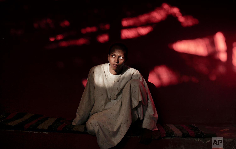 Nubian activist Waleed Toka poses for a photograph in Cairo, Egypt.(AP Photo/Nariman El-Mofty)