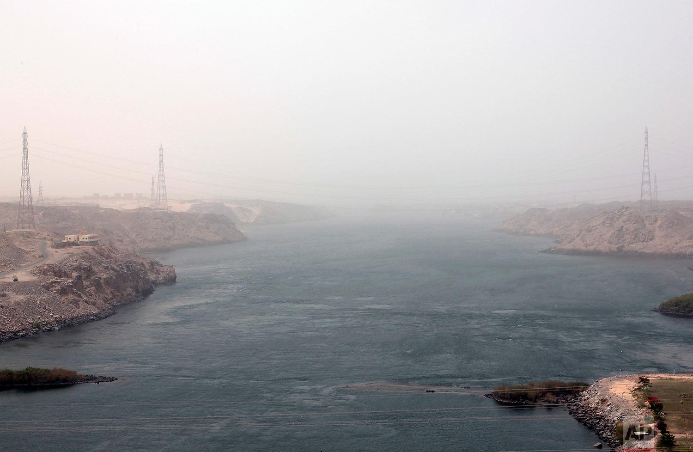 The high dam in Aswan, Egypt. (AP Photo/Nariman El-Mofty)