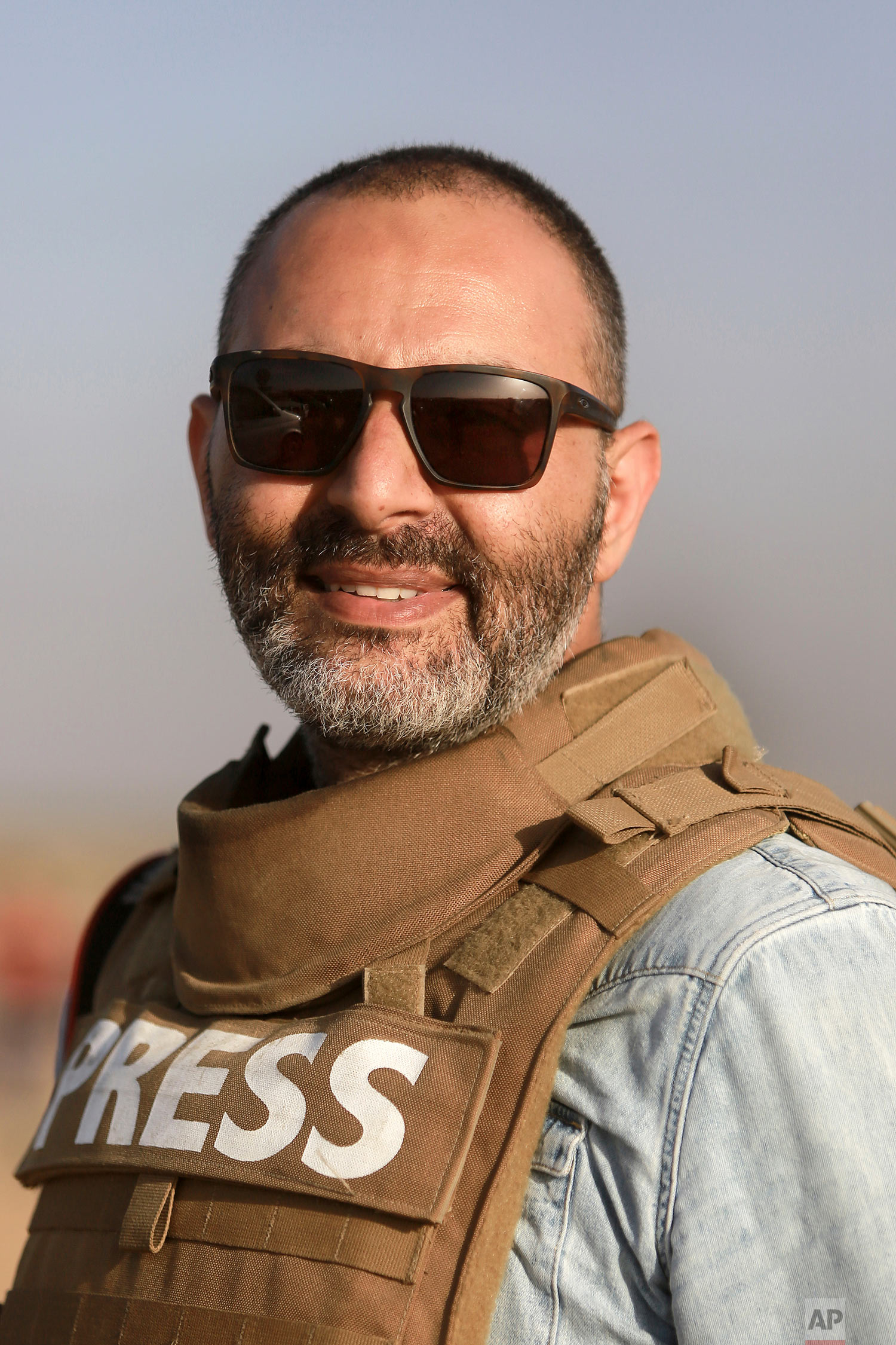 Khalil Hamra on assignment in Gaza