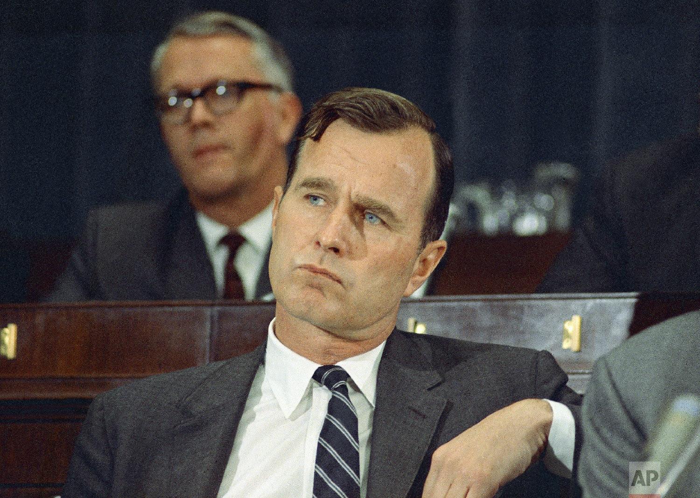 George H. Bush (R-Texas) is seen on March 6, 1968 in Washington, D.C. (AP Photo/Charles Tasnadi)