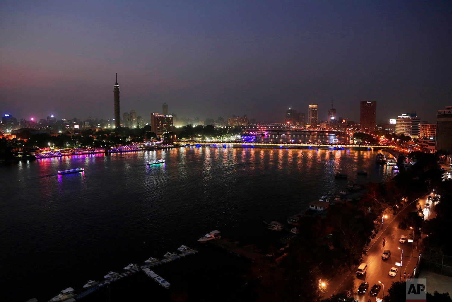 This Nov. 5, 2018 photo, shows the general view of Cairo, Egypt. (AP Photo/Nariman El-Mofty)