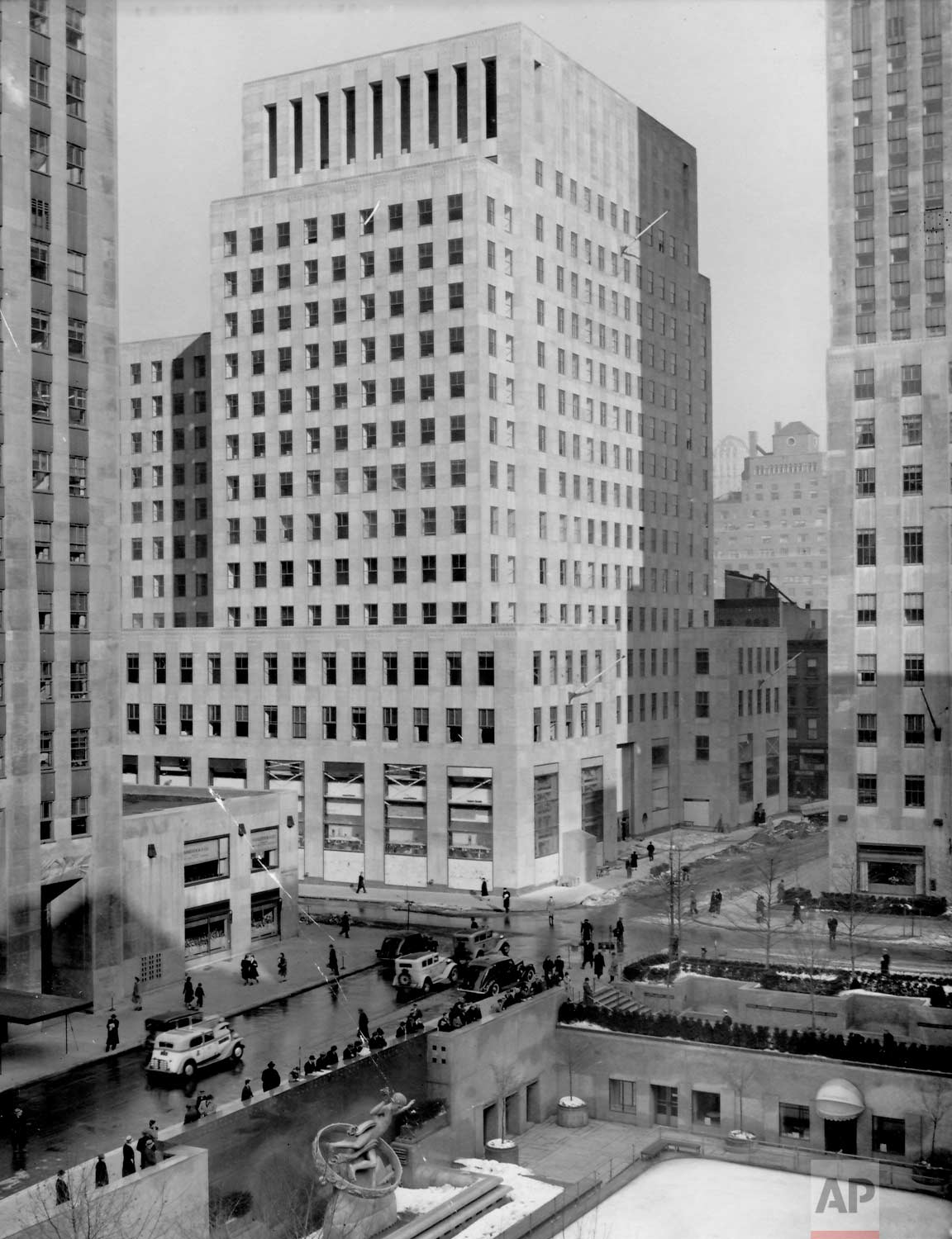 The Associated Press Building at 50 Rockefeller Plaza on November 29, 1938, shortly before the AP moved in on December 17, 1938. (AP Photo/Corporate Archives)