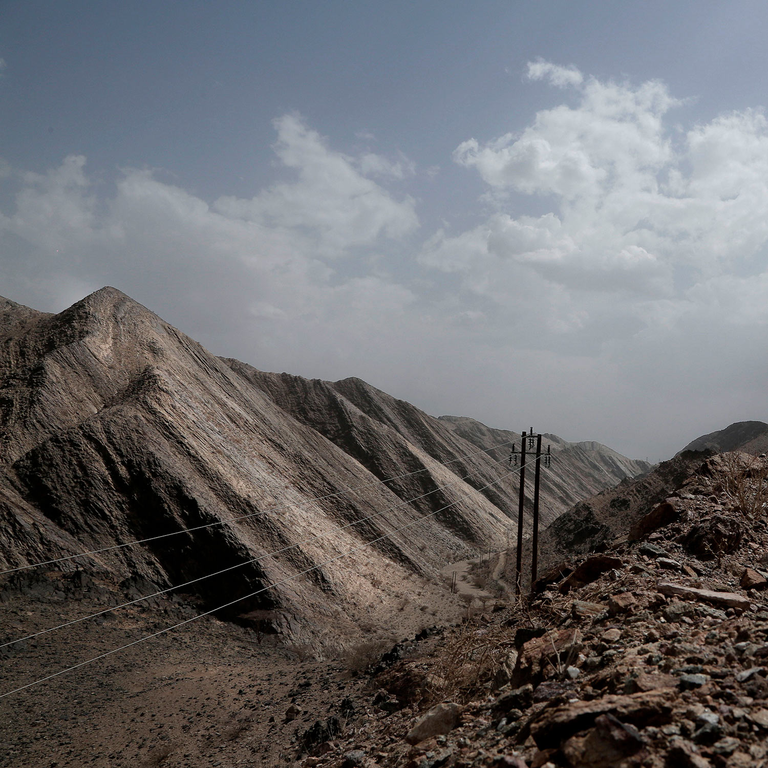 This Aug. 6, 2018 photo, shows mountains in Bayda, Yemen. (AP Photo/Nariman El-Mofty)