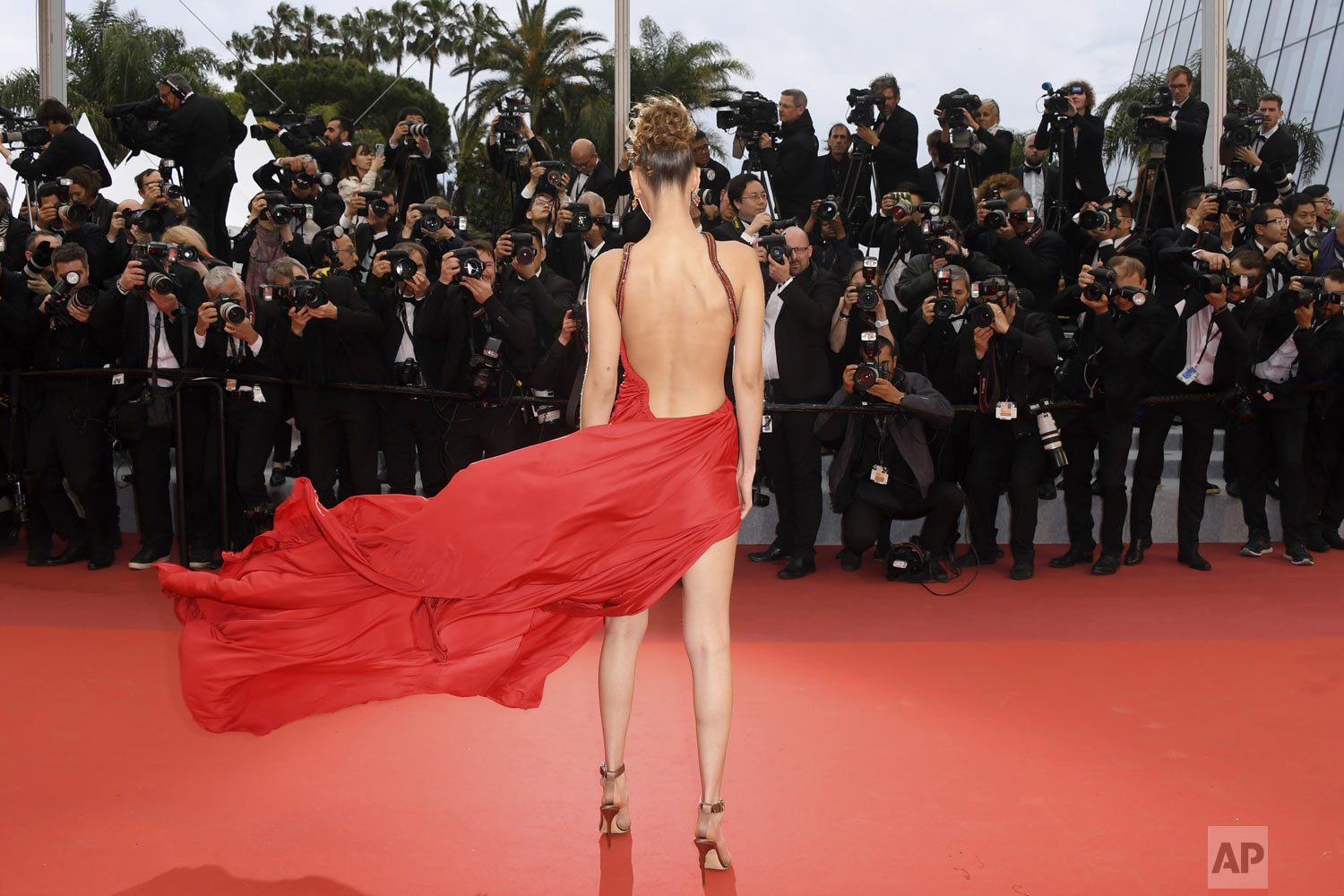 Model Bella Hadid poses for photographers at the photo call for the film 'Pain and Glory' at the 72nd international film festival, Cannes, southern France, Friday, May 17, 2019. (Photo by Arthur Mola/Invision/AP)