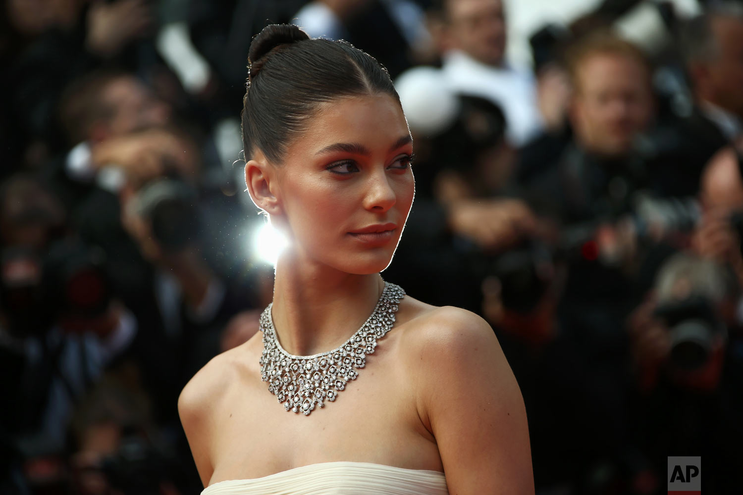 Model Camila Morrone poses at the 72nd international film festival, Cannes, France, May 21, 2019. (Photo by Joel C Ryan/Invision/AP)