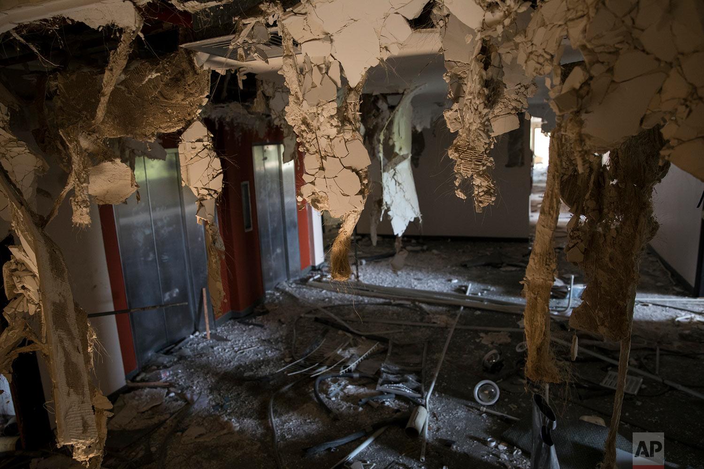 A floor of the Brisas del Norte hotel shows the aftermath of looting in Maracaibo, Venezuela, May 16, 2019. (AP Photo/Rodrigo Abd)