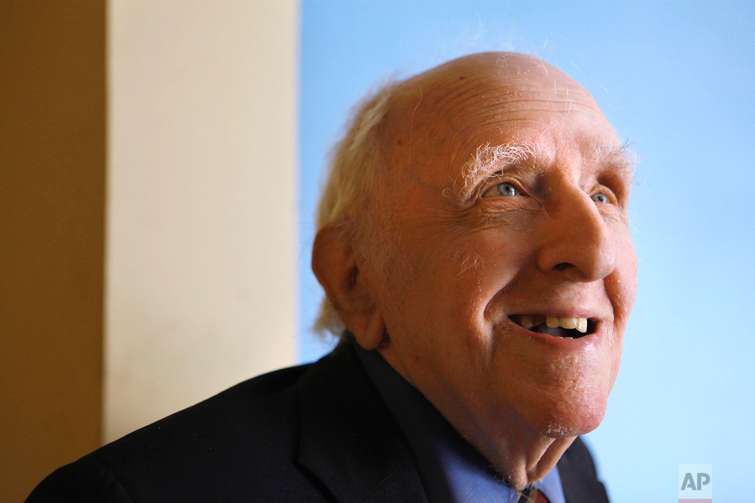 This June 1, 2009 file photo shows Frank Kameny in his home in Washington. Kameny, a government astronomer who sued after he was fired for being gay, took his anti-discrimination case to the Supreme Court in 1961 (the justices declined to hear his appeal), and helped stage the first gay rights protest outside the White House in 1965. (AP Photo/Jacquelyn Martin)