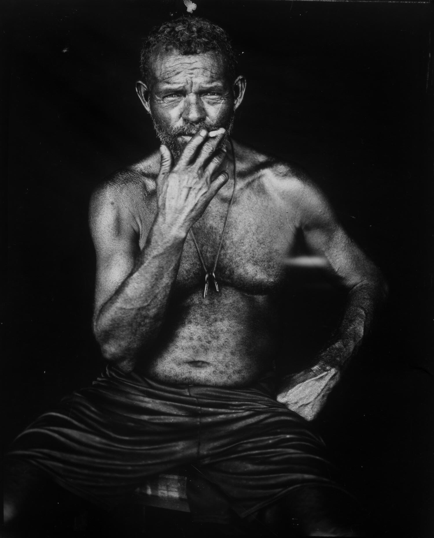 In black and white: Venezuelan fisherman among oil ruins - Veteran Associated Press photographer Rodrigo Abd set down his lightning-fast digital Canon and spread the tripod of his 19th century-style box camera to make black and white photos of the fisherman and the industrial decay they call home.See this series of portraits