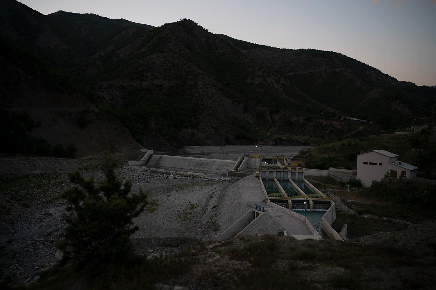 The Langarica hydropower plant, on a tributary to the Vjosa River near Permet, Albania. (AP Photo/Felipe Dana)