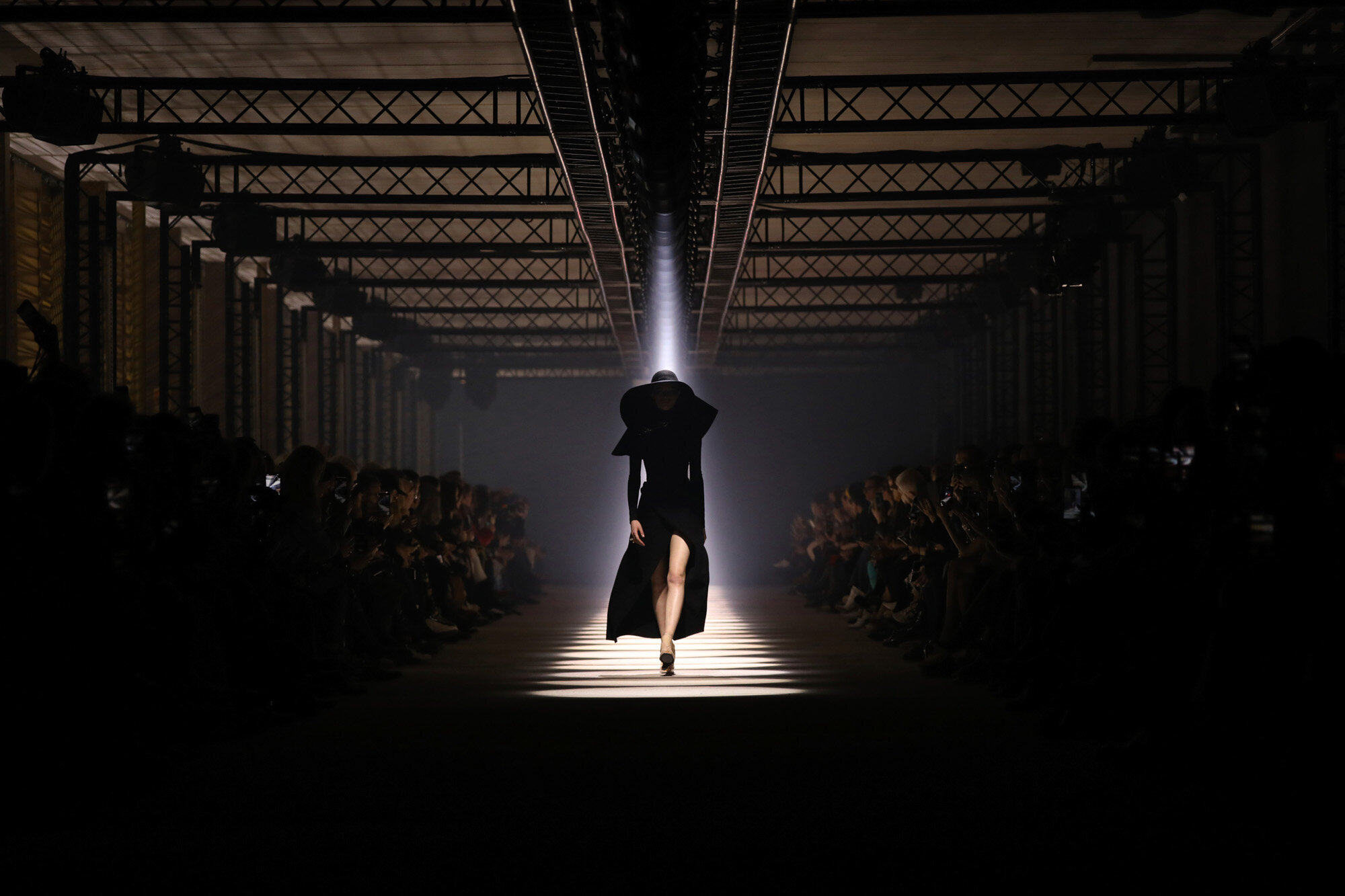 A model wears a creation for the Givenchy fashion collection during Women's fashion week Fall/Winter 2020/21 presented in Paris on March 1, 2020. (Photo by Vianney Le Caer/Invision/AP)