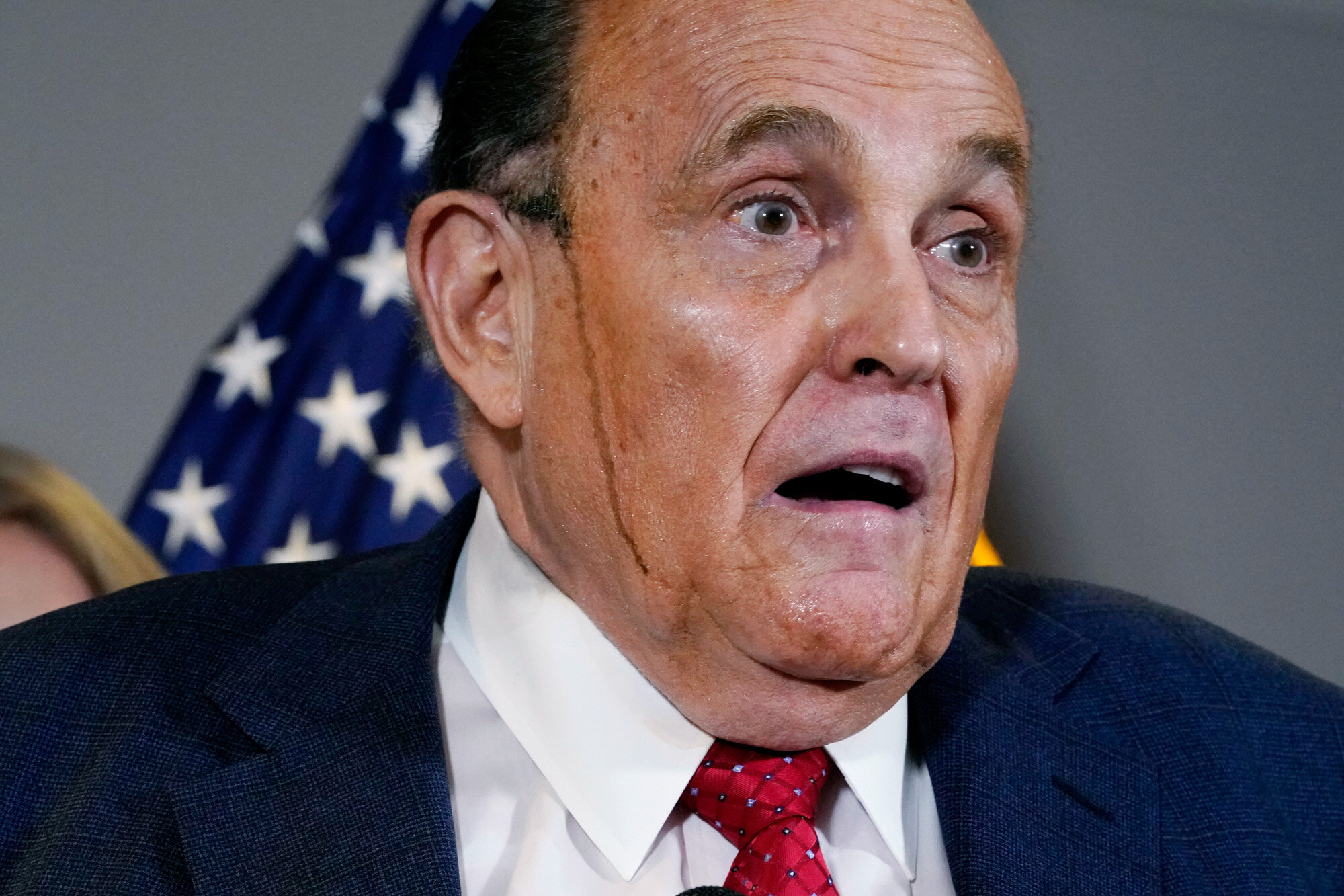 Former Mayor of New York Rudy Giuliani, a lawyer for President Donald Trump, speaks during a news conference at the Republican National Committee headquarters in Washington on Nov. 19, 2020. (AP Photo/Jacquelyn Martin)