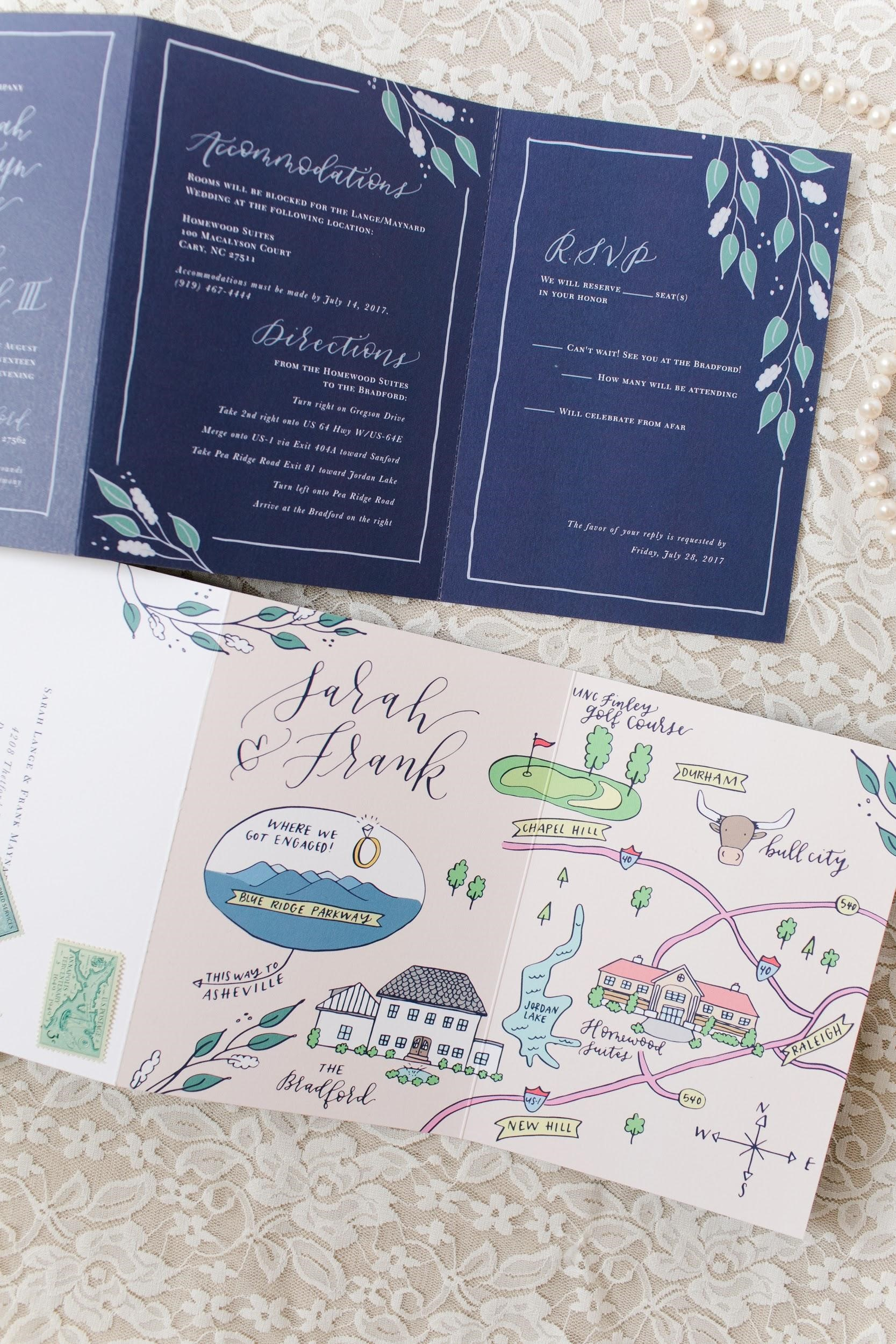To let guests know where the major wedding events will take place - ...