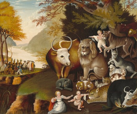 Edward Hicks, Peaceable Kingdom, c. 1834, The National Gallery of Art