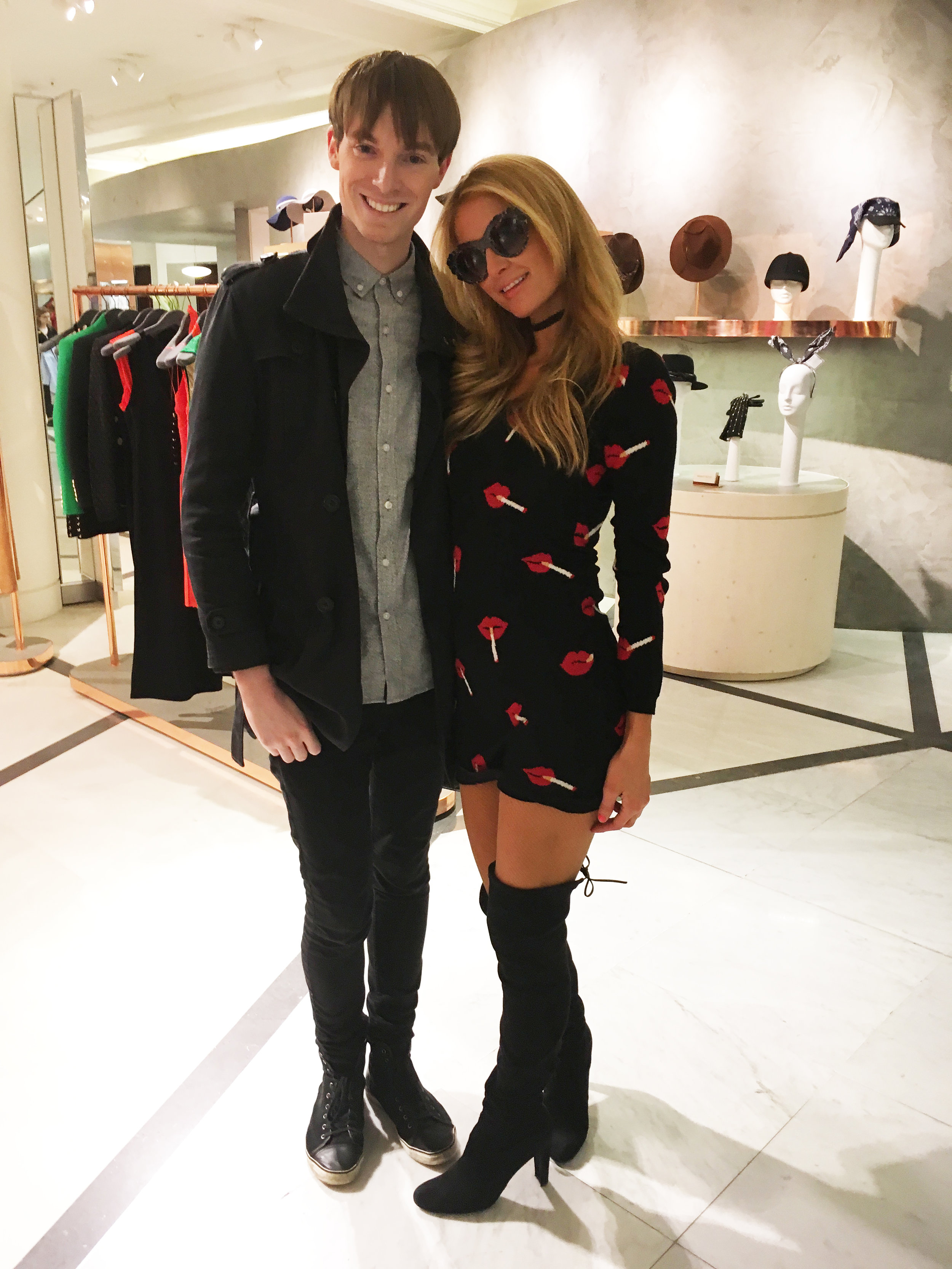 Richard Brownlie-Marshall & Paris Hilton