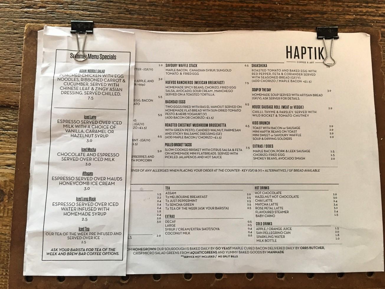 haptik_coffee_menu_newtownards_NI_explorer
