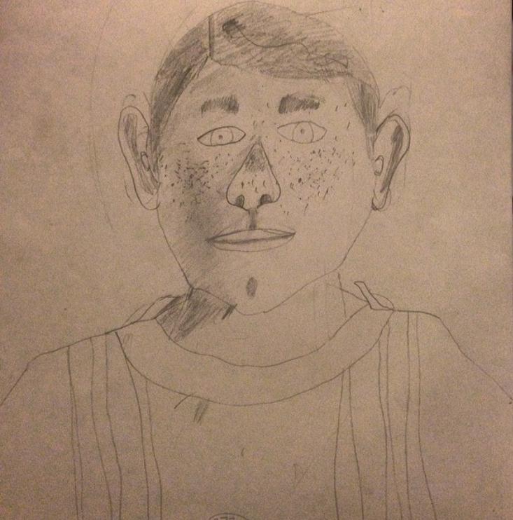 Self-portrait, aged 14: Zero creativity here.