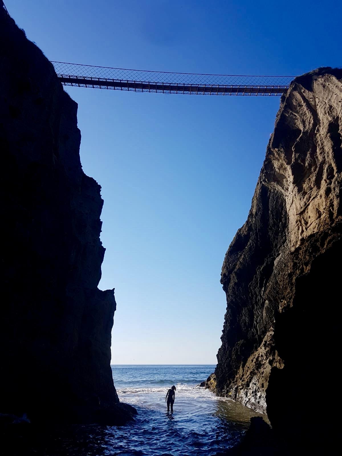 UNDER THE ROPE BRIDGE -